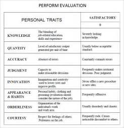 simple performance appraisal template performance evaluation 9 free documents in pdf