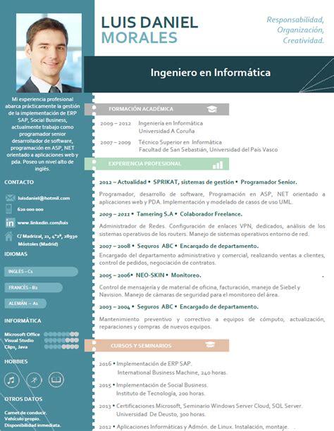 Modelo Curriculum Vitae De Empresas curriculum profesional plantillas de cv para empresas