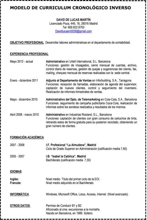 Modelo De Curriculum Vitae Inverso Formato De Curr 237 Culum V 237 Tae Curr 237 Culum V 237 Tae Formatos Word Y Para Llenar