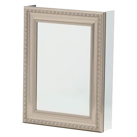 Brushed Nickel Medicine Cabinet Framed Medicine Cabinets Brushed Nickel Roselawnlutheran