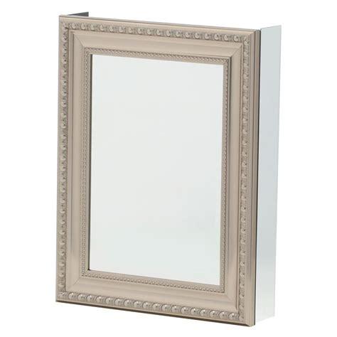 framed medicine cabinets brushed nickel ? Home Decor