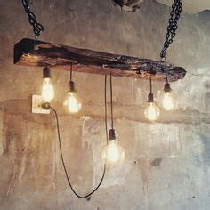 Lights In Railway Sleepers by Reclaimed Barn Timber Beam Light Fixture Bar Restaurant