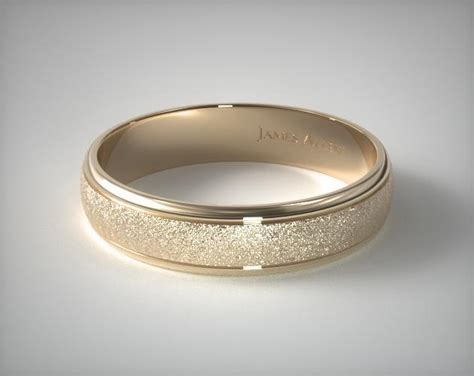 14k Yellow Gold Mens 6mm Comfort Fit Wedding Band by 6mm Hammered Comfort Fit Wedding Band 14k Yellow Gold