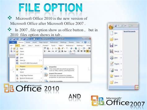 Microsoft Office 2010 Vs 2013 by Ms Office 2010 Vs 2007