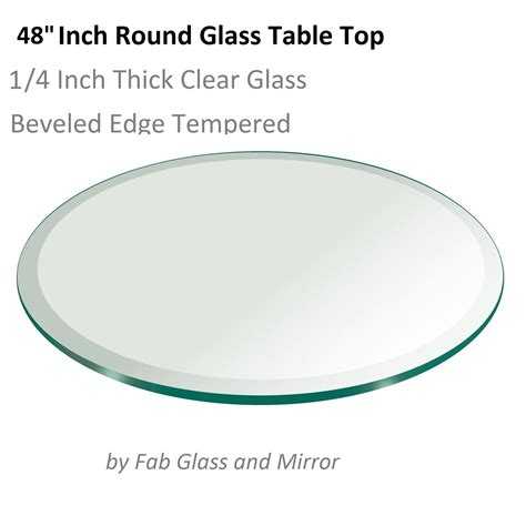 48 glass table top 48 quot tempered glass table top 1 quot beveled edge