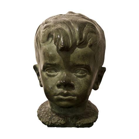 carlo testa carlo pisi testa di bambino mizar scultura bronzo