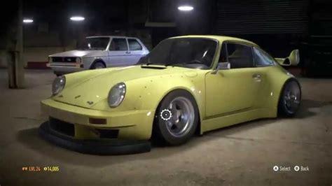 drift porsche 911 need for speed 2015 rwb porsche 911 drift build