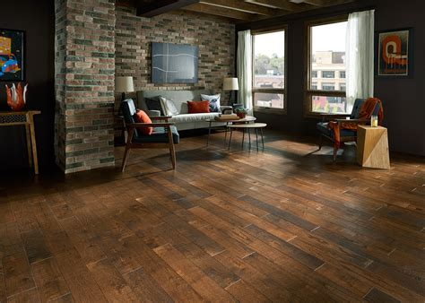 Distressed Hickory Wood Flooring by October S Top Trends