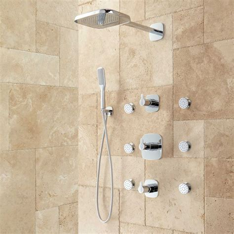 Kepala Jet Shower Bathroom Toilet Shower arin thermostatic shower system with shower 6 jets shower systems shower bathroom