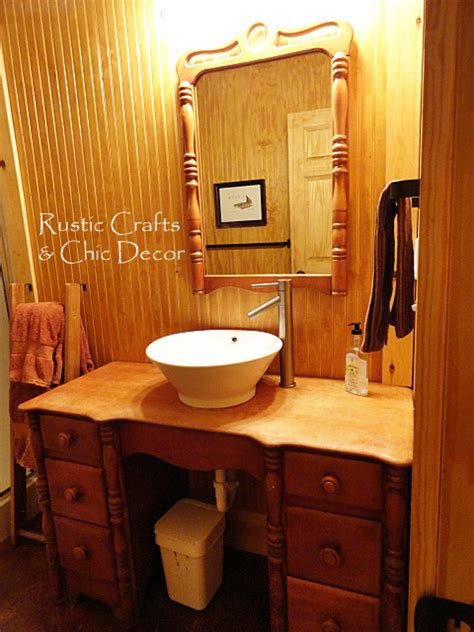cabin bathroom decor rustic crafts chic decor