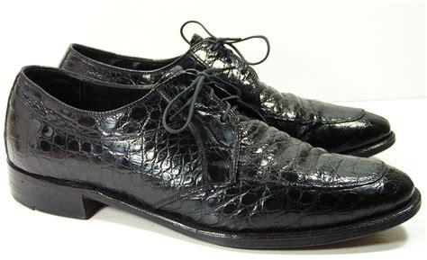 mens dress shoes 8 d alligator nunn bush black leather