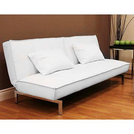 white leather futon sofa faux leather convertible futon sofa bed white
