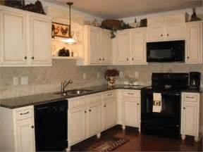 white cabinets with black appliances kitchen pinterest