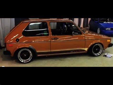 volkswagen rabbit stance 1977 golf mk1 vw rabbit stance hellaflush youtube
