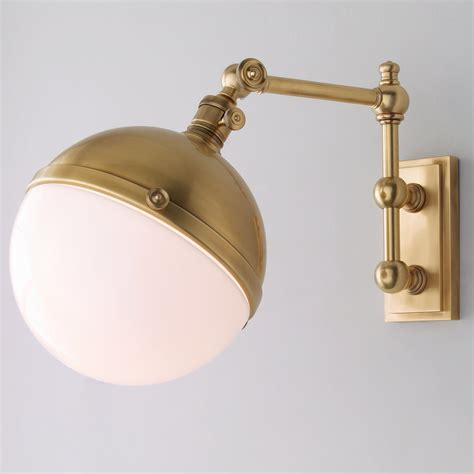 Swing Arm Sconce - vintage globe single arm swing arm wall sconce shades of