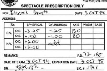 prescription for contact lenses contacts advice