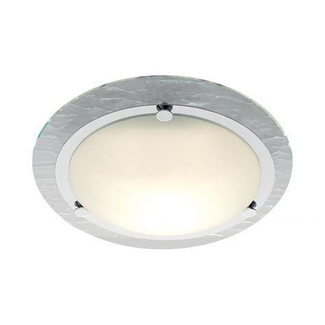 Flush Ceiling Lights Searchlight 2411cc Bathroom Lights 1 Light Polished Chrome Flush Ceiling Light