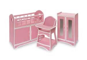 Canvas Folding Chair Badger Basket Folding Doll Furniture Set With Storage Crib