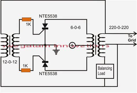 simplest grid tie inverter gti circuit using scr