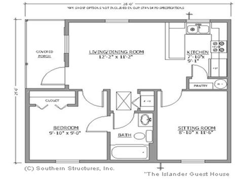 guest house floor plan 17 best 1000 ideas about 1 bedroom house plans on guest tiny house plans for families