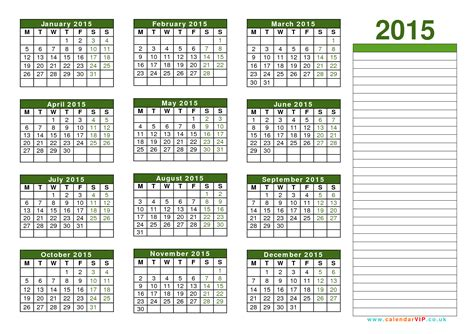 Calendã Can 2015 Excel Calendar 2015 Uk Free Yearly Calendar Templates For Uk