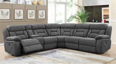 camargue power motion sectional sofa   grey  coaster