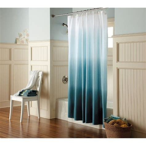 Blue Ombre Curtains Ombre Shower Curtain Blue Threshold Shower Curtains Ombre And Curtains