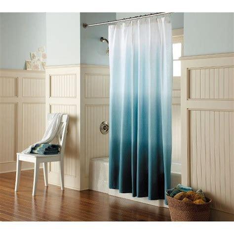 blue ombre shower curtain ombre shower curtain blue threshold shower curtains