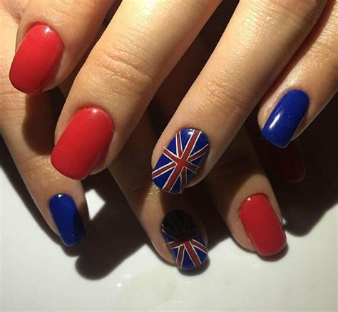 nail art tutorial british flag british flag nails art and designs ladylife