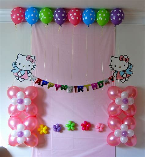 fresh picture of birthday decoration ideas at home