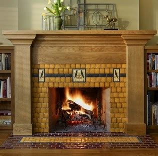 Craftsman Bungalow by Standout Fireplace Tile Arts Amp Crafts Style
