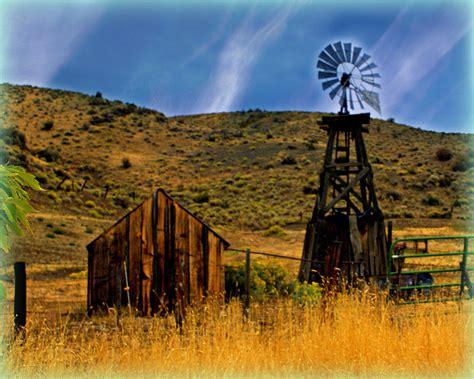 rustic windmill photograph  marty koch
