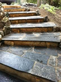 flagstone steps for the home pinterest