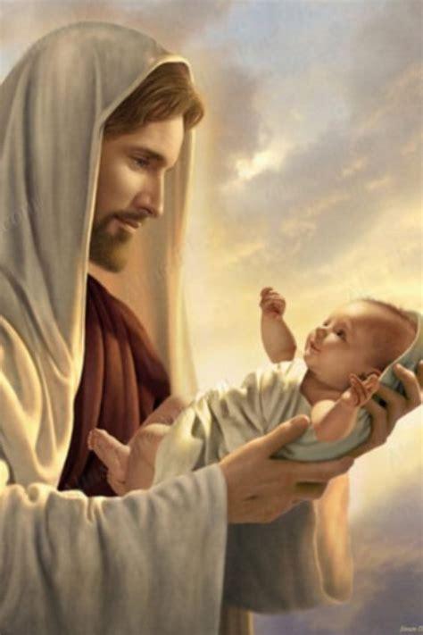 imagenes de jesus cargando un bebe jes 250 s y bebe ivan pinterest dios cumplea 241 os y ni 241 os