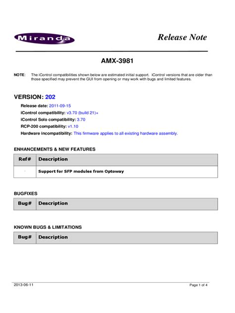 software release notes document template release notes template 3 free templates in pdf word