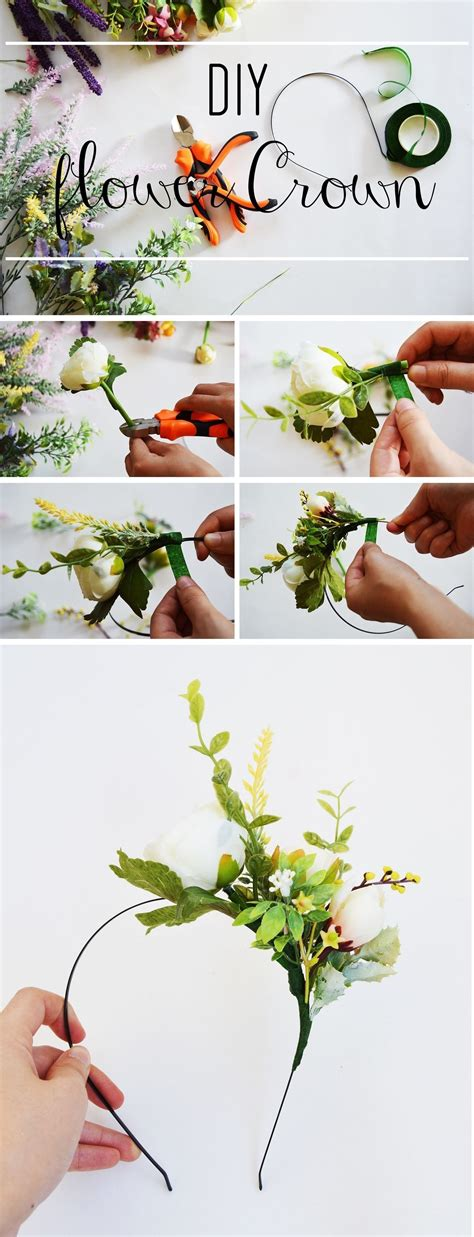 How To Make A Flower Crown Out Of Paper - diy flower crown 183 how to make a flower crown 183 other on