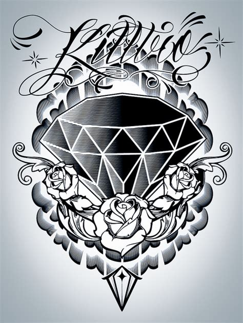 tattoo diamond drawing 8 nice diamond tattoo design ideas