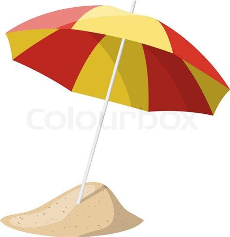 umbrella layout vector beach umbrella isolated over white background vector
