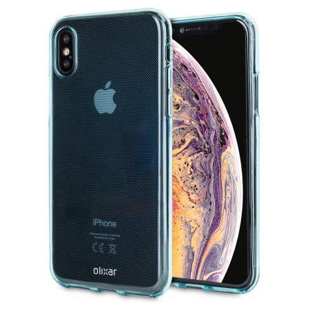 olixar flexishield apple iphone xs max gel blue