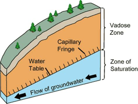 Capillary Fringe Wikipedia The Location Of The Water Table Is Subject To Change