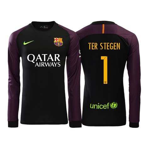 Jersey World Mens Club Blue barcelona 1 ter stegen home mens adults sleeves 2016