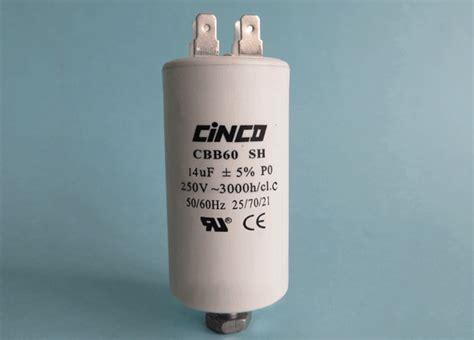 motor run capacitor tolerance 14uf 250vac cbb60a motor run capacitors 4pins cinco capacitor china ac capacitors factory