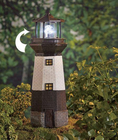 Backyard Lighthouse by Solar Motion Lighthouse Statue Patio Garden Porch Lawn