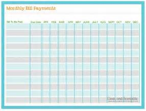 Monthly Payment How To Organize Paperwork And Bills Clean And Scentsible