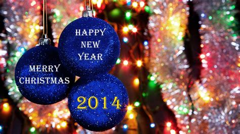 happy new year christmas 2014 hd wallpaper
