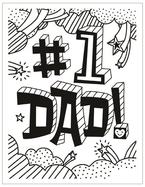 number 1 dad colouring pages sketch coloring page