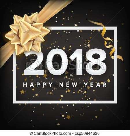 happy new year 2018 invitation vector greeting