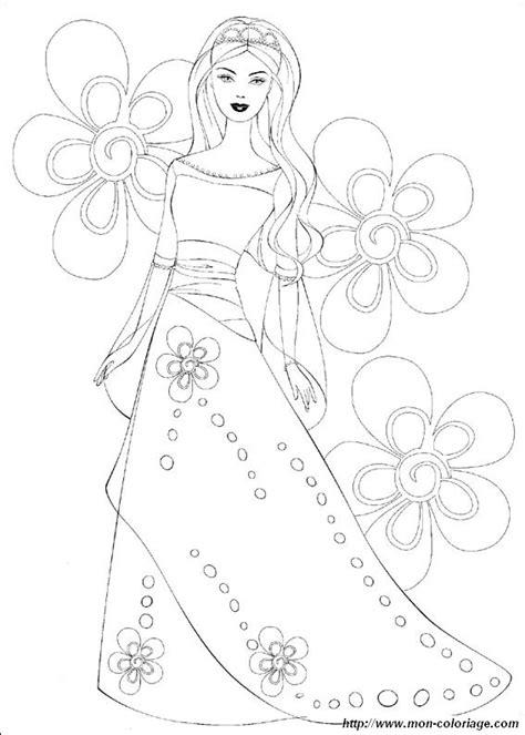 coloring barbie page wedding barbie