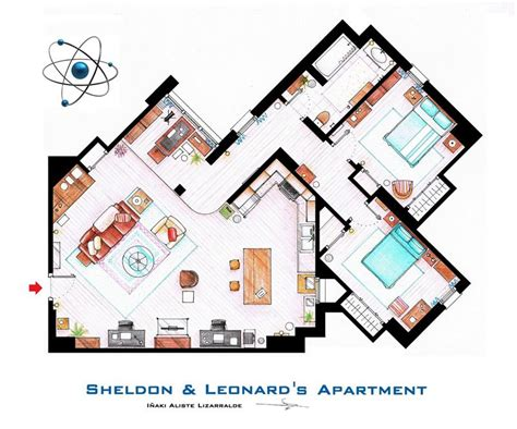 tv houses floor plans detailed floor plans of tv show apartments 171 twistedsifter