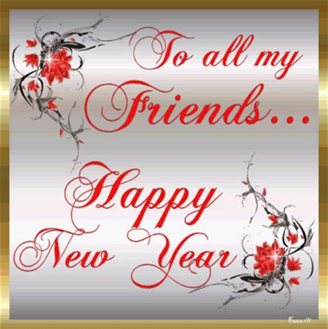 to all my friends happy new year red graphic for facebook